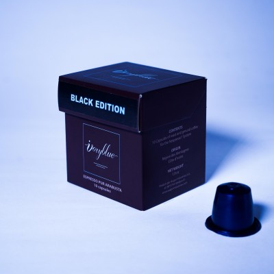 Ivoryblue Caffé - Pur Arabusta Man Region - Black Edition